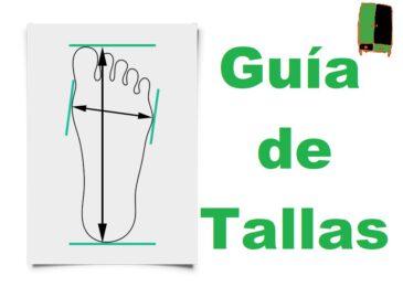 Guía de Tallas y compatibilidades de zapatillas