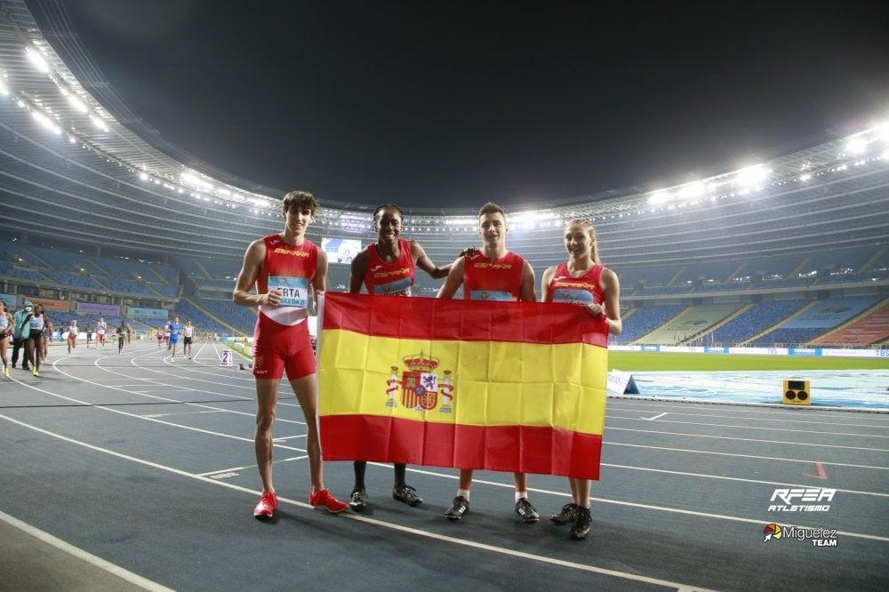 Equipo 4x400 mixto record de España