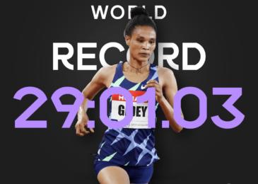 Letsenbet Gidey bate el récord mundial de 10.000 metros
